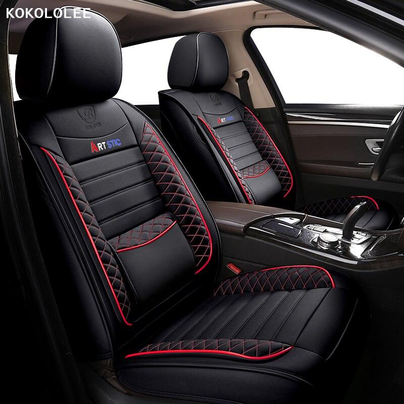 Kokololee cubierta de asiento de coche para Volkswagen vw passat b5 b6 b7 b8 polo golf tiguan jetta touareg Sharan accesorios de coche asientos
