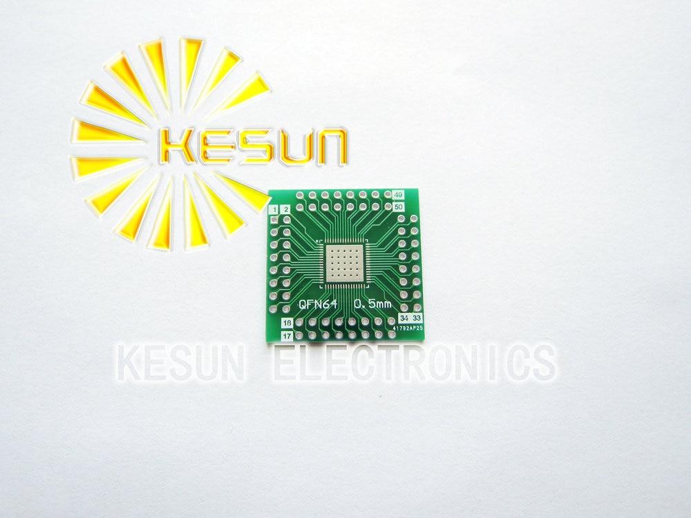Envío Gratis 100 Uds QFN64 QFN56 a DIP64 DIP56 0,5 MM adaptador de circuito integrado hembra adaptador/placa de PCB
