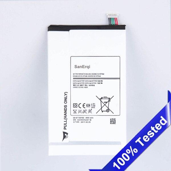 SanErqi батарея для Samsung GALAXY Tab S 8,4 T700 T705 EB-BT705FBC 4900 мАч для Samsung T700 батарея