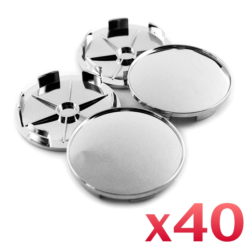"40 pçs prata & latão roda centro tampa aro distintivo titular 68mm para bbs lm rim 16 ""17"" 18 ""roda acessórios"