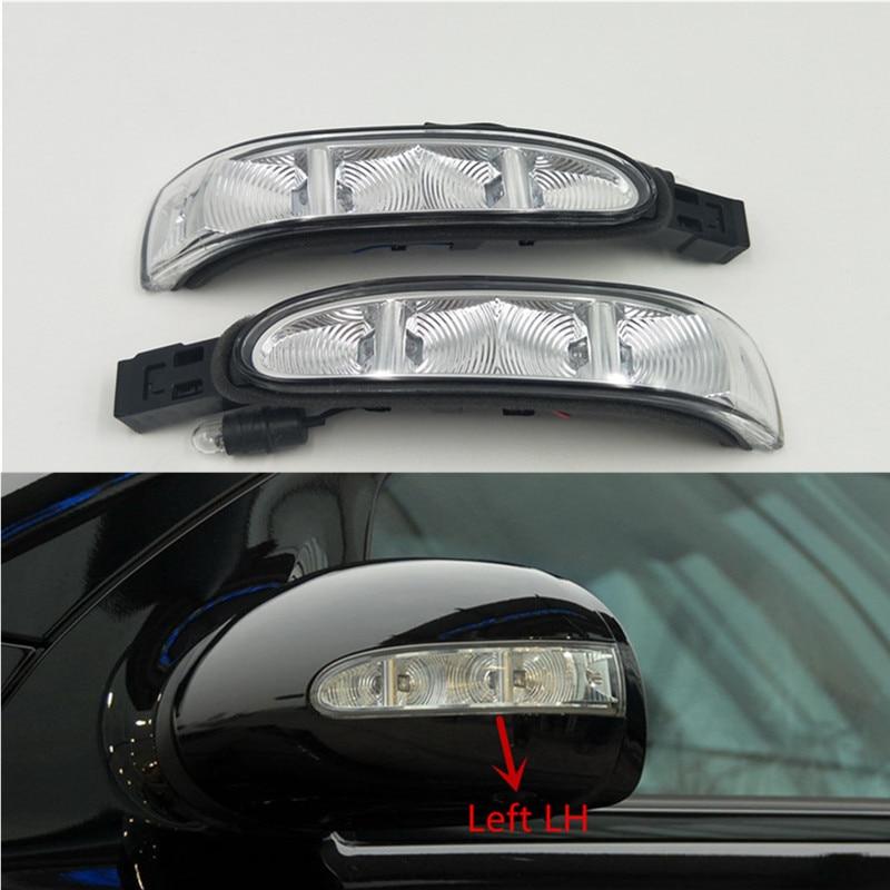 Cafoucs lâmpada led de seta espelhada, de porta, lâmpada indicadora para mercedes w164 x164 ml 2006-2009 w251 r-r classe 2005-2009