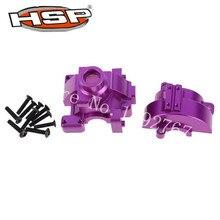 HSP mise à niveau pièces 102075 alun. boîte de vitesses avec vis pour 1/10 modèles à léchelle RC voiture 4WD Nitro puissance sur route 94102 SONIC CNC