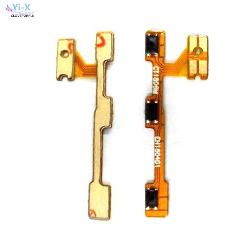 10 unids/lote para Huawei P20 lite en la clave de volumen abajo botón lateral flexible Cable