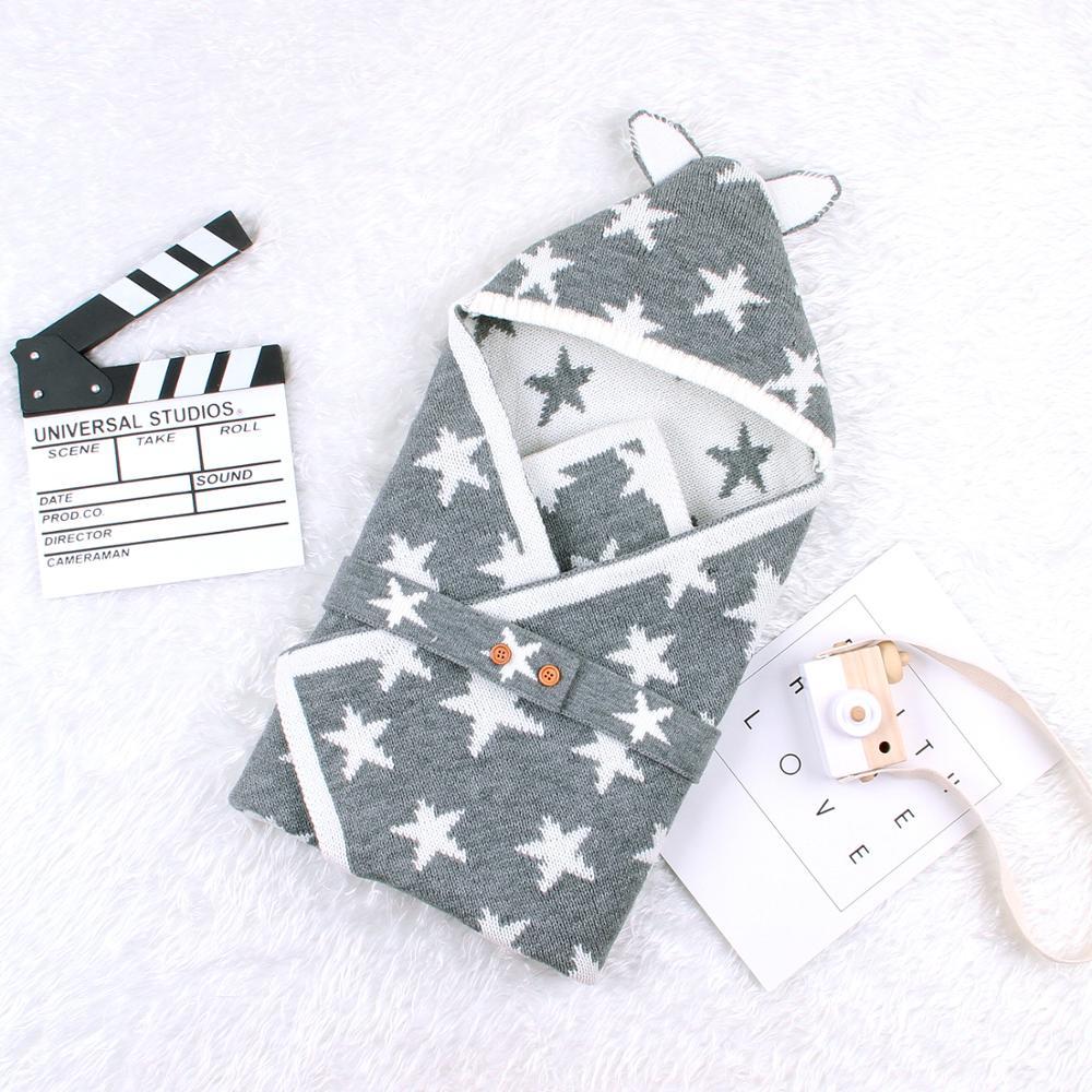 Sobre de Sacos de dormir para bebés para niñas recién nacidas Cocoon Cute Five Star envoltura para bebé Infantil de 0 a 6 meses descarga para niños
