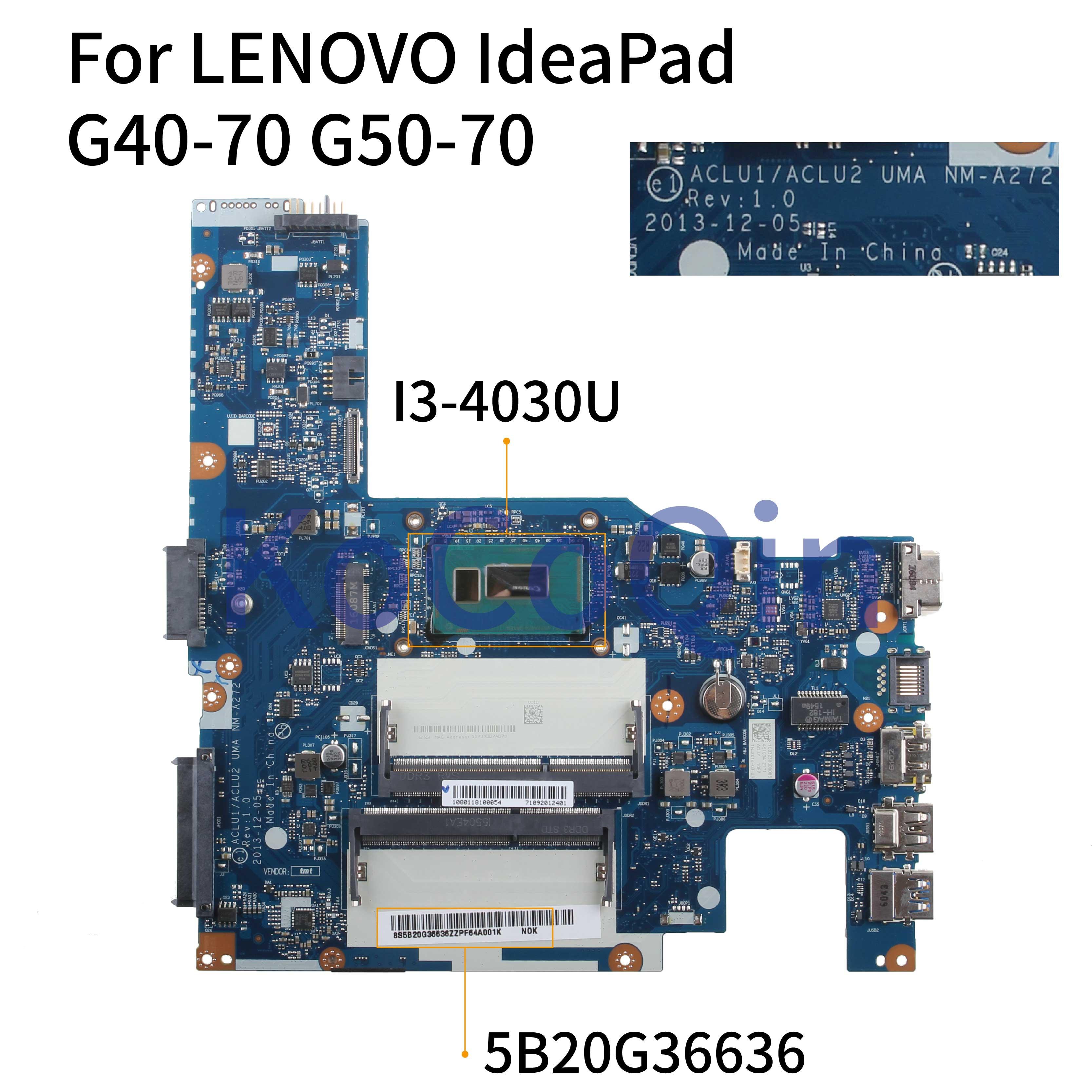 KoCoQin материнская плата для ноутбука LENOVO IdeaPad G40-70 14