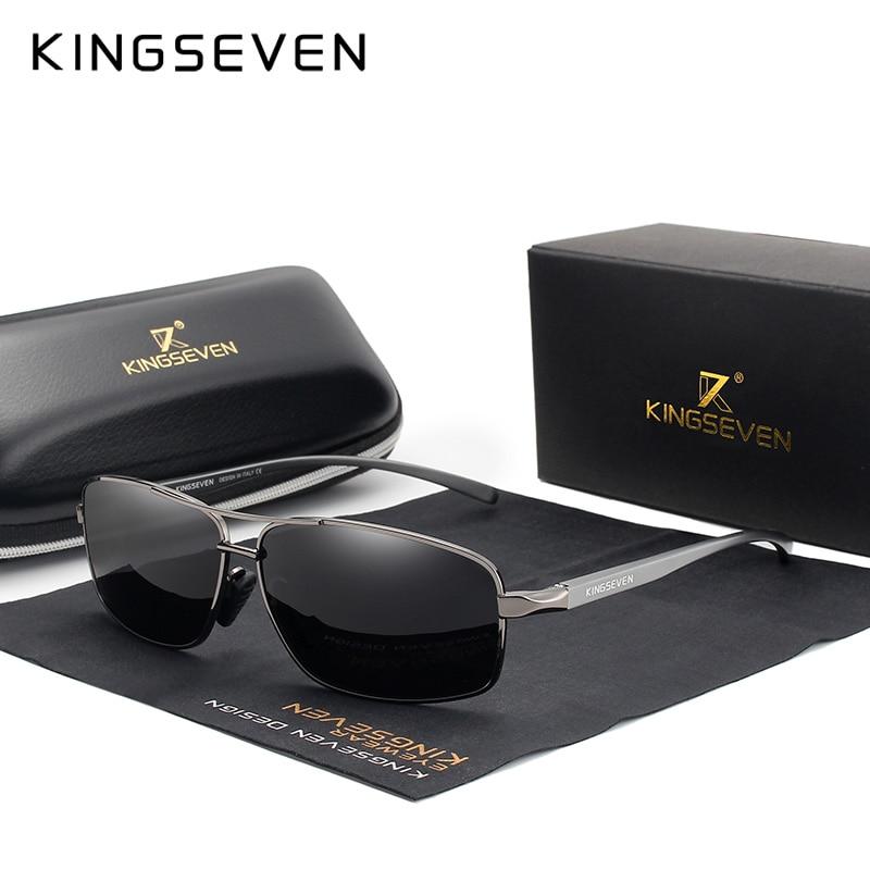 KINGSEVEN, Ретро стиль, фирменный дизайн, мужские поляризованные солнцезащитные очки, квадратные, классические, мужские солнцезащитные очки, UV400, N7088