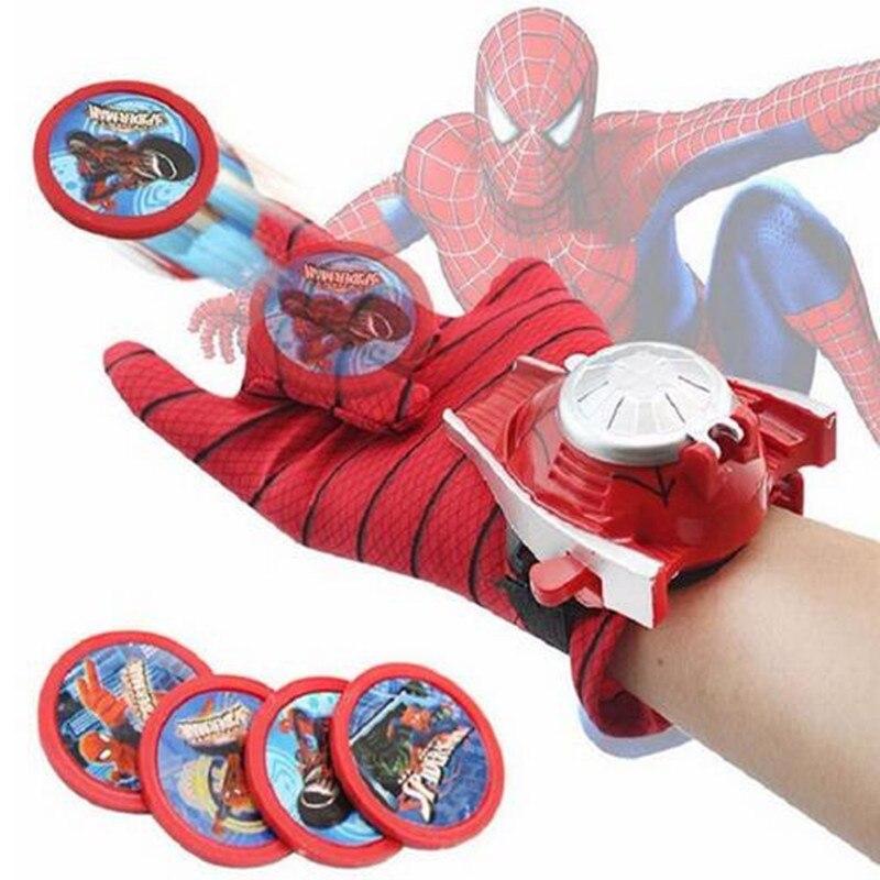 Niños Spiderman Cosplay disfraz Spider-man guante hombre araña batman superman lanzadores juguete emisor halloween regalo