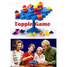 Support déquilibrage Tic-Tac-Toe Topple jeu déquilibre ne laissez pas basculer lorsque vous essayez de marquer des Points jouet éducatif Montessori IQ