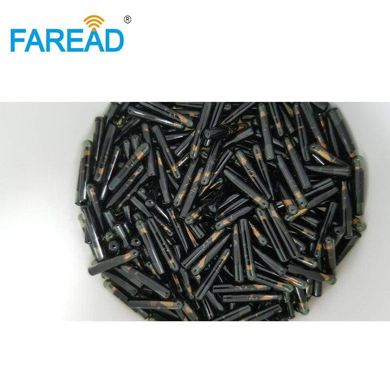 X100pcs de gran tamaño Identificación de vidrio microchip HDX BDE 4*22/3 85*22,5mm RFID 125Khz chips