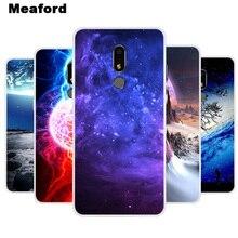 "Funda de silicona para Meizu M8 cubierta M8 Lite suave arte estrella estampado del espacio contraportada para Meizu M8 Lite 5,7 ""M 8 funda de teléfono de parachoques transparente"
