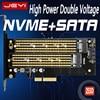 JEYI SK7 M.2 NVMe SSD NGFF a PCI-E X4 adaptador M B clave Dual tarjeta de interfaz de apoyo PCI Express3.0 doble voltaje 12v + 3,3 v SATA3