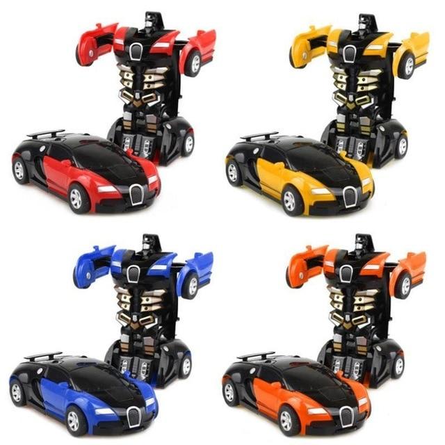 Cool Collision deformation car Boy Toys Anime Action Figure Toys Transformation Robot Car ABS Plastic Model Random color