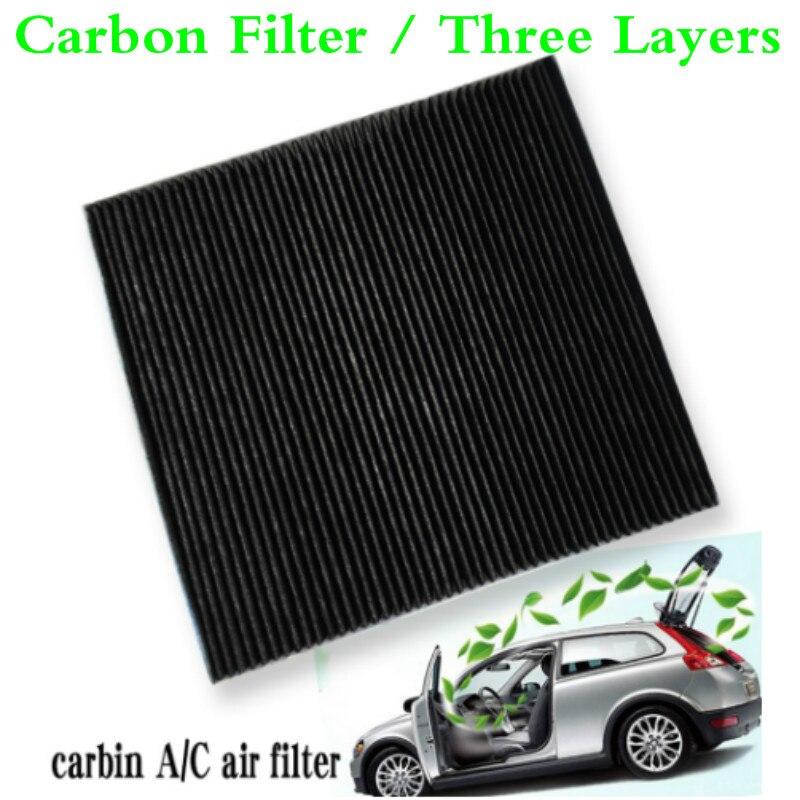 Para 2004-2012 Mitsubishi Galant de carbón activo para coche cabina filtro de aire fresco aire acondicionado Auto A/C/filtro de aire