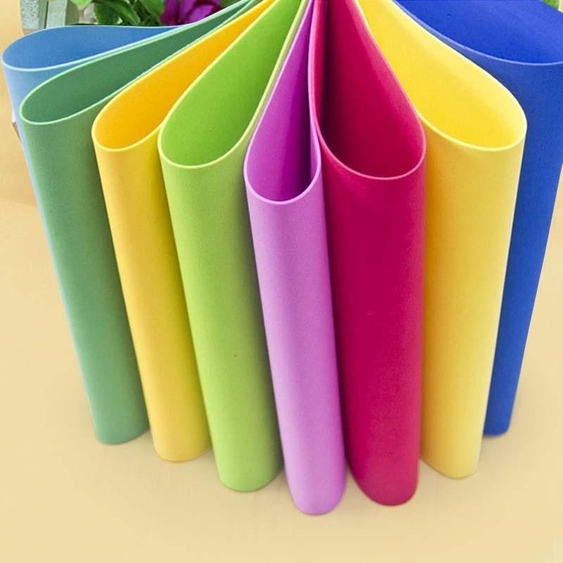 10 листов, толстая разноцветная губка А4, EVA, поролоновая бумага для детей, ручная работа, ручная работа, цветная бумага
