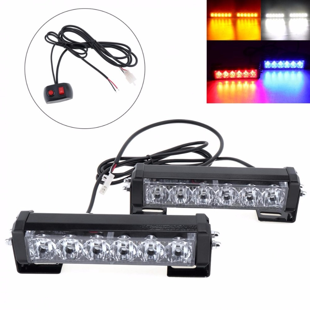 2 Piece / Set 12V 36W Car LED Warning Strobe Light 3000Lm Auto Daytime Running Police Emergency Light For Cars /SUVs/ Trucks