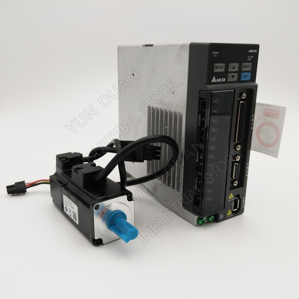 Delta 100W AC Servo Motor Drive Kit ASD-B2-0121-B ECMA-C20401GS 0.1KW 0.32NM 3000rpm 40MM con Cable de 3M