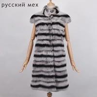 real rex rabbit fur vest long fur vest women winter fashion whole set rabbit fur vest for women