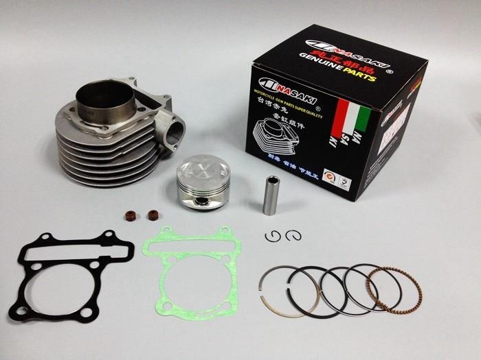 Gy6 200cc cilindro da motocicleta anel de pistão vedação óleo adequado para kymco motocicleta gy6 150 modificado 200cc 61mm