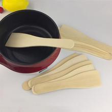 6 stücke Holz Spachtel Langlebig Hitze Beständig Kleine Nicht-stick Küche Utensilien Kochen Schaufel Holz Turner für Home Restaurant