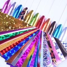 24pcs Holographic Nail Foils Laser Nail Art Transfer Stickers DIY Manicure Design