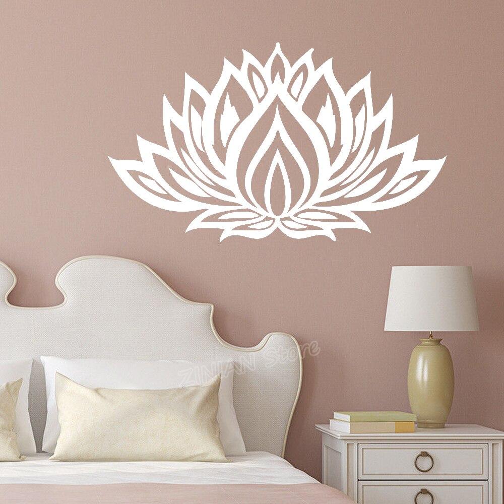 Lotus-pegatinas de vinilo para decoración de pared para sala de estar, vinilo...