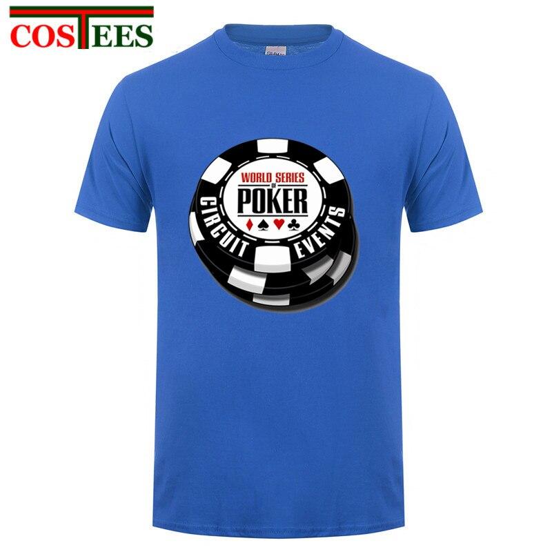 Nuevo ocio cuello redondo para hombres 2017 Serie Mundial de póker Wsop camiseta superventas para hombre casual cuello redondo pre-algodón Camiseta hombre