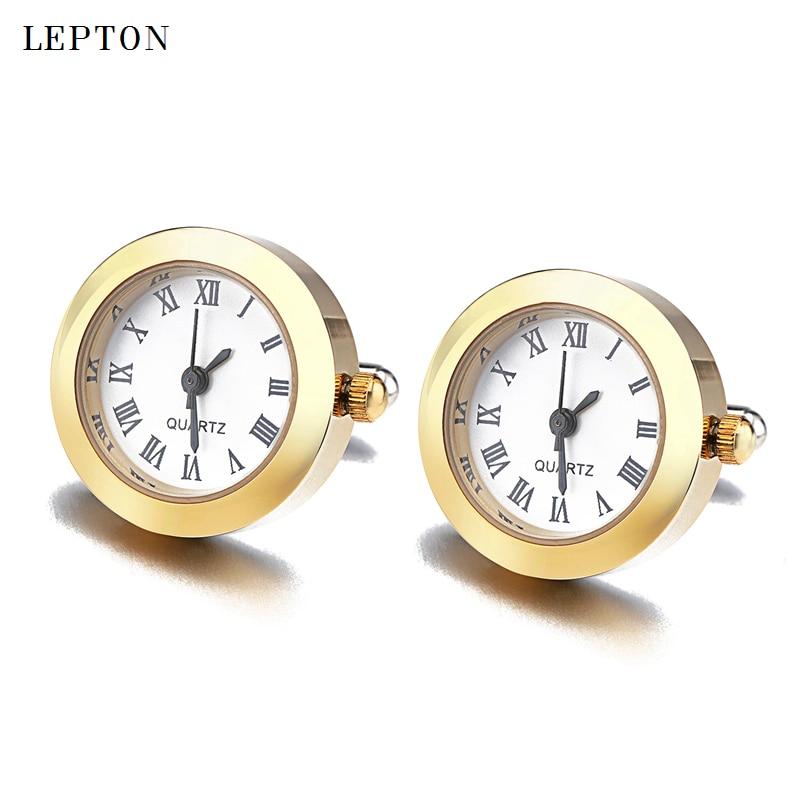 Hot Sale Battery Digital Watch Cufflinks For Men Lepton Real Clock Cufflinks Watch Cuff links for Mens Jewelry Relojes gemelos