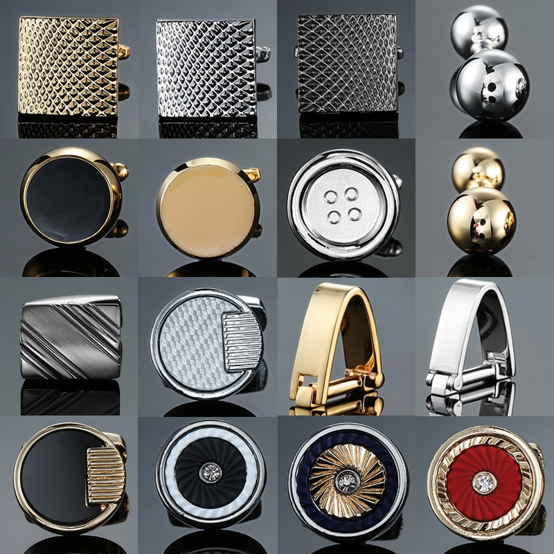 high-end Novelty cuff links stainless steel Old craftsman hand Laser engraving cufflinks mans French