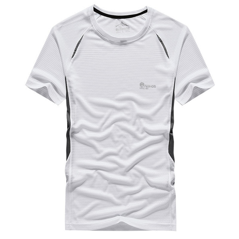 2020 New t shirt men Summer fashion brand Tops Tees men Quick-drying breathable t shirt men's round neck short sleeve Size M~5XL