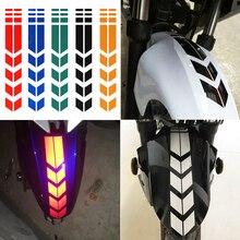 Motorcycle Reflective Sticker Wheel Fender Warning Arrow Decals for YAMAHA RD500 FJ600 FZ600 SRX600 YX600 RADIAN FZ700 GENESIS
