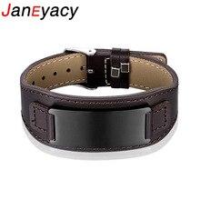 Janeyacy 2018 nouveau Bracelet en acier inoxydable de mode femmes braves chevaliers bracelets montre boucle Bracelet en cuir hommes cadeaux Pulseira