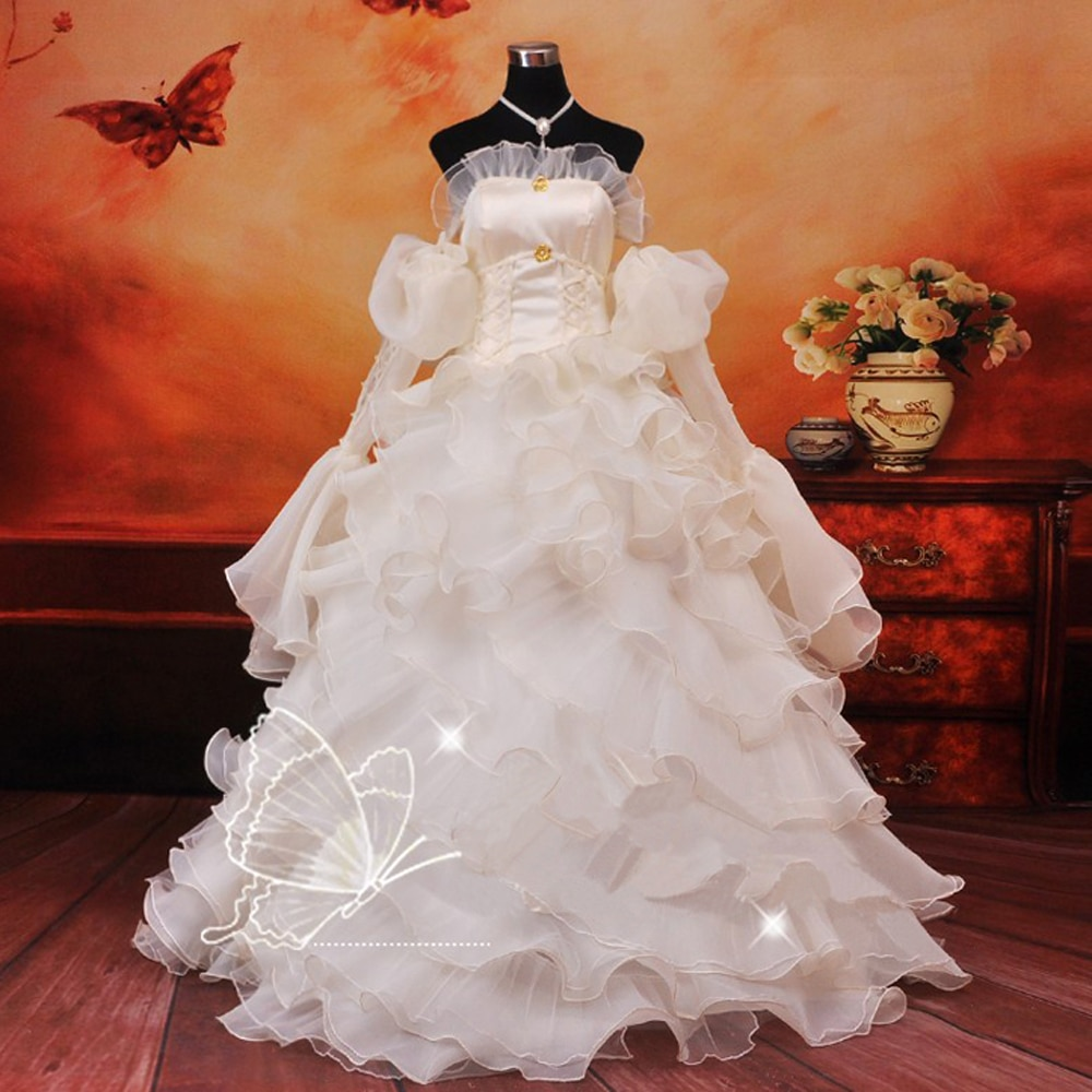 Disfraz de cosplay de Euphemia Geass con código de Anime, disfraz de Halloween de Carnaval para mujer, vestidos blancos de boda para fiestas nocturnas
