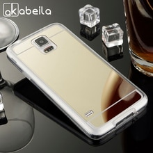 AKABEILA étuis pour Samsung Galaxy S5 G900F G900I G900M G900A SV I9600 G900 S5 Neo G903F coque de téléphone miroir souple