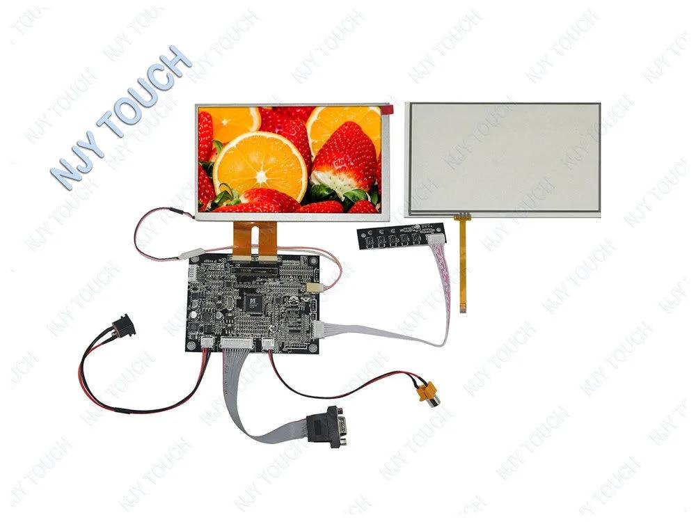 Panneau LCD 7 pouces INNOLUX AT070TN84, 2x30 broches, 800x480, panneau plustuch avec kit de carte contrôleur VGA AV, nouveau