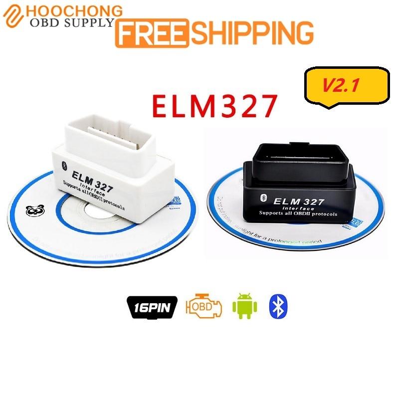 V2.1 ELM327 Bluetooth OBD2 CAN-BUS Diagnose Scanner Tool ULME327 327 Hardware V1.5 OBDII für INFIDINI auto DVD-player MINI elm327