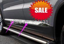 Volkswagen agon pour VW Tiguan 2009-2015   Qualité supérieure en acier inoxydable pour porte latérale, garniture de corps 4 pièces