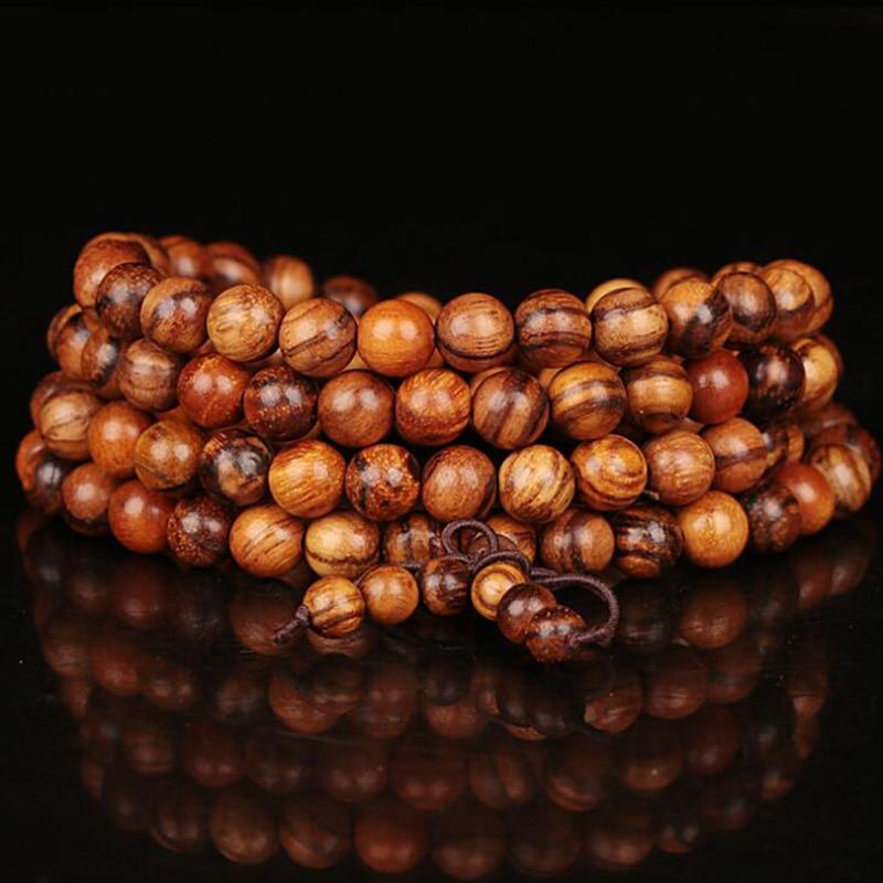 WEIYU 108 Rosewood Wood Prayer Beads Bracelet For Men Women Natural Wooden Mala Bracelet Buddha Rosary Bracelet Buddhist Jewelry