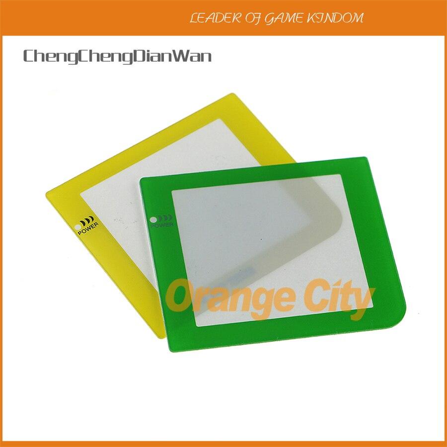 ChengChengDianWan lente de pantalla protectora de plástico de repuesto colorido con logotipo para Gameboy de bolsillo GBP