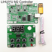 LIHUIYU Main Board M2 Nano Co2 Laser Control System + Dongle B + Control Panel Board + LaserDraw CorelLaser 3020 3040 K40
