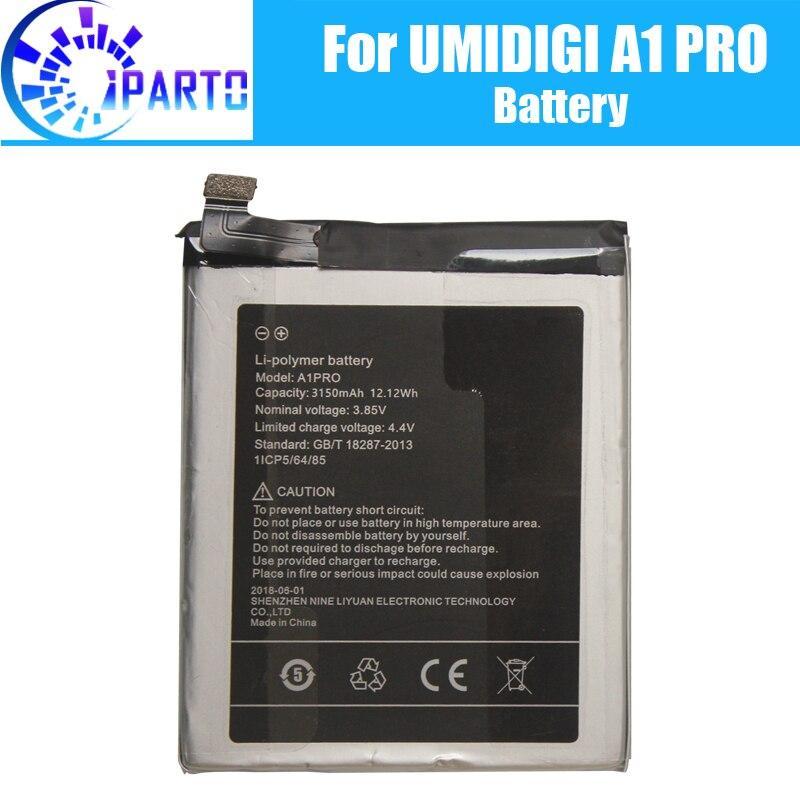 UMIDIGI A1 PRO reemplazo de la batería 100% nuevo Original Alta Calidad alta capacidad 3150mAh batería para UMIDIGI A1 PRO