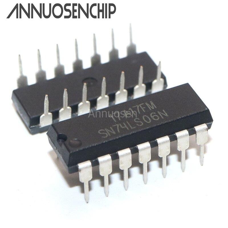 10 unids/lote SN74LS06N SN74LS06 74LS06N 74LS06 DIP-14 nuevo original