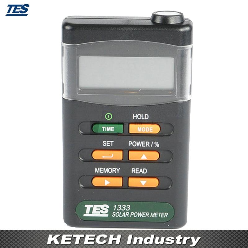 Solar Power Meters Digital Radiation Detector Solar Cell Energy Tester TES-1333