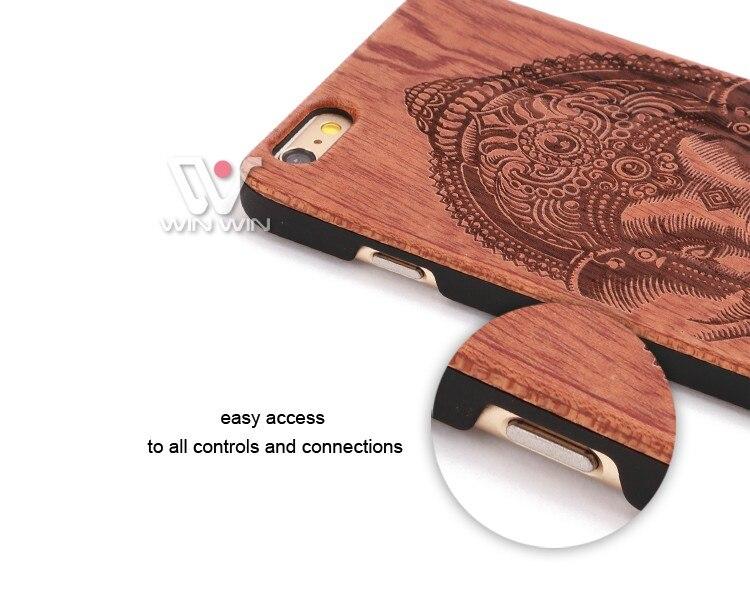 U & i marka cienki luksusowe natural wood telefon case for iphone 5 5s 6 6 s 6 plus 6 s plus 7 7 plus pokrywa drewniane wysokiej jakości, odporna na wstrząsy 8