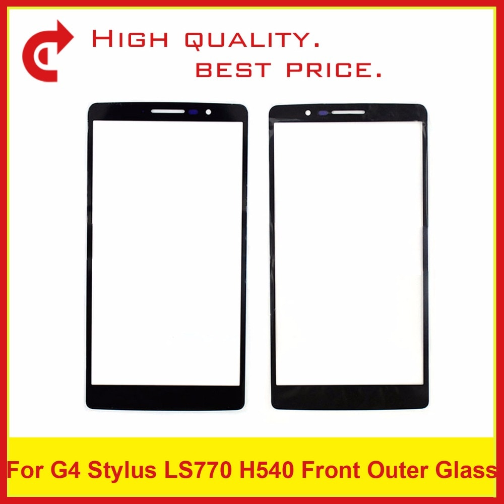 "50 unids/lote alta calidad de 5,7 ""para LG G4 Stylus LS770 H540 H631 Ms631 H635 stylo pantalla táctil Panel frontal lente de vidrio exterior negro"