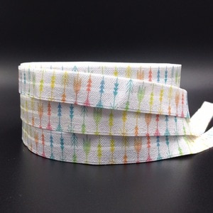 "Good Quality 5/8"" Arrow Print Fold Over Elastic 10 yards Girls Elastic Hair Band FOE Hair Tie Ribbon for DIY Hair Accessories"