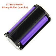 3*18650 parallèle 18650 étui de support de batterie (2 pièces/lot)
