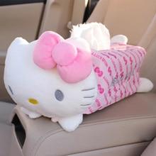 Boîte à mouchoirs dessin animé   Mignon Kitty maison voiture, porte-étui porte-serviette serviette papier sac, pochette de voiture style