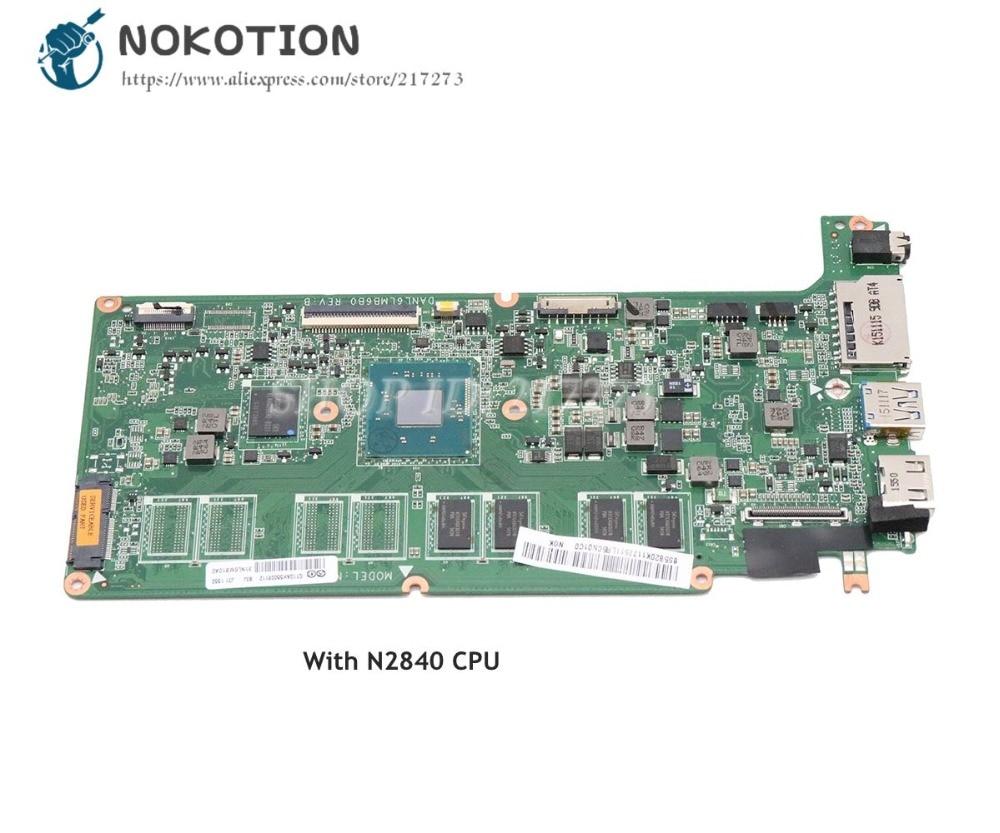 NOKOTION DANL6LMB6B0 5B20K11775 para Lenovo Chromebook N21 N21-80MG placa base de computadora portátil Celeron N2840 CPU 2 GB 16G
