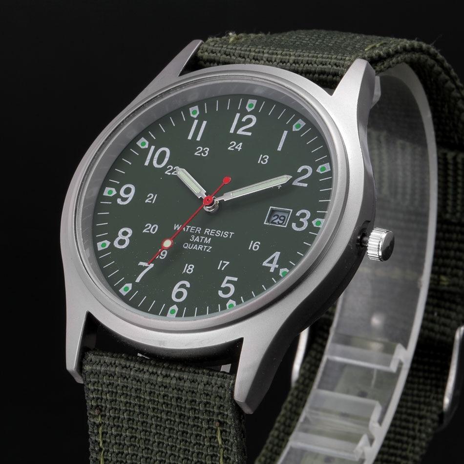 Wholesale Cheap Watches Men Nylon Band Calendar Casual Quartz Watch Boys Girls Gifts Wrist Watch montre reloj Army Vintage watch