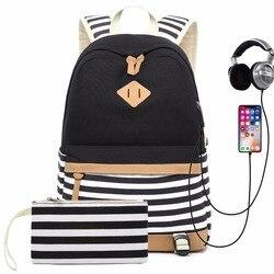 Mochilas femininas para laptop, bolsa mochila feminina escolar, usb, para meninas adolescentes, mochila para laptop 14